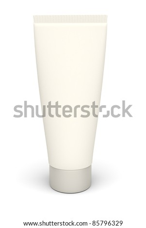 3d isolated plastic tube on the white backgrund