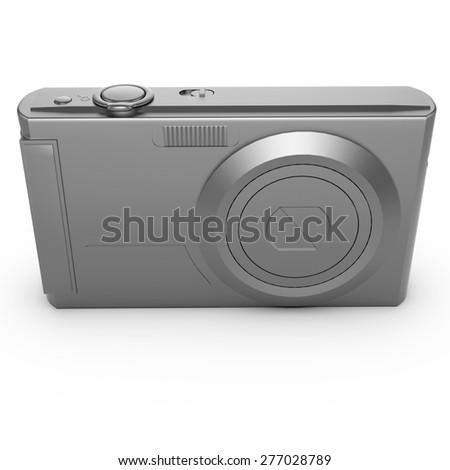 3d isolated silver photo camera