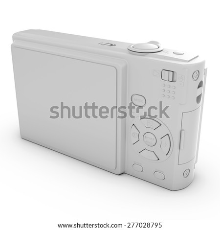 3d isolated white photo camera