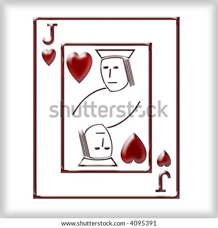 3d Jack of Hearts - stock photo