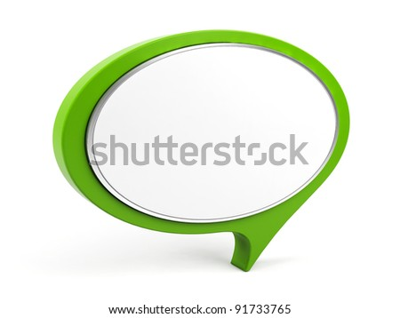 3d l bubble text. - stock photo
