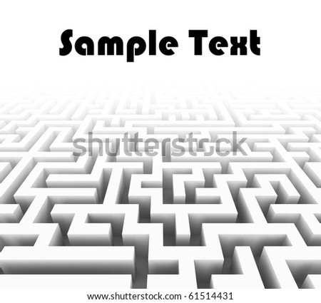 3d labyrinth with place for sample text