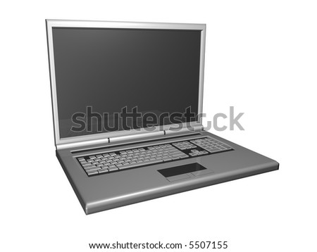 3D Laptop isolated