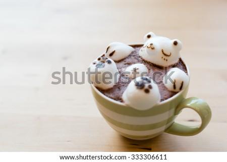 3D Latte Art (Soft Focus) - stock photo