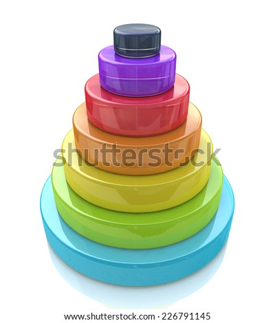 3d Layered pyramid  - stock photo