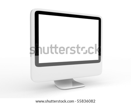 3d LCD monitor isolated