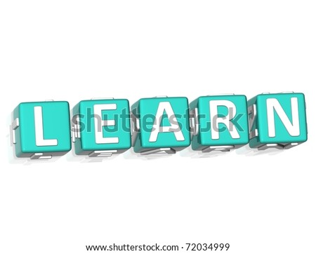 3D Learn More text on yellow background - stock photo