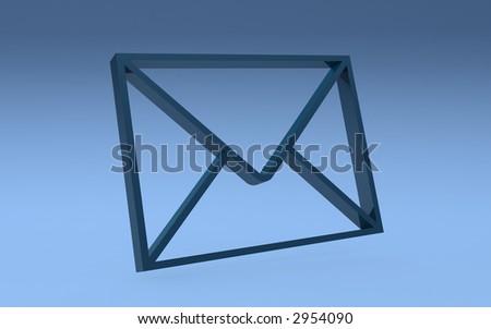 3d--letter - stock photo