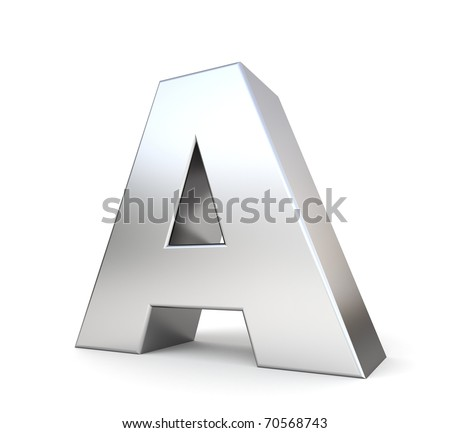 3d letter A from my metal letter collection - stock photo