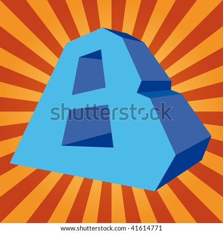 """3d letter """"B"""" on disco background - stock photo"""