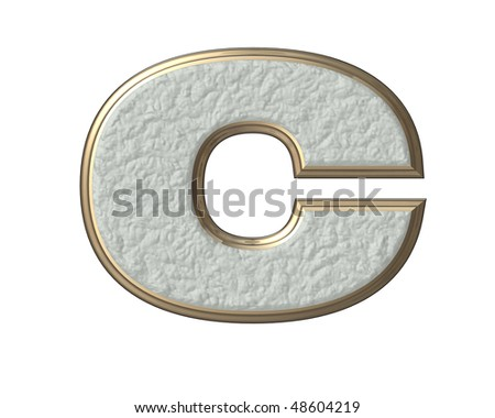 3D letter C isolated on a white