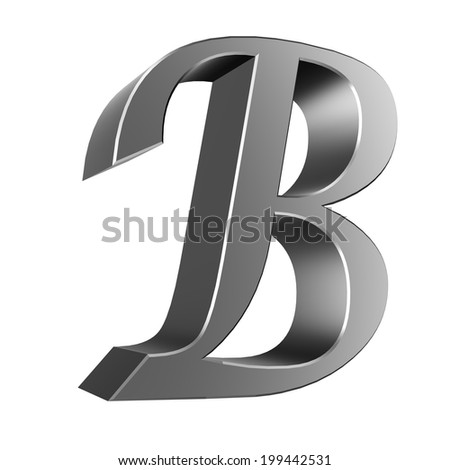 3d letter collection - B