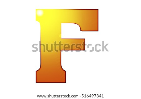 3d letter collection - F