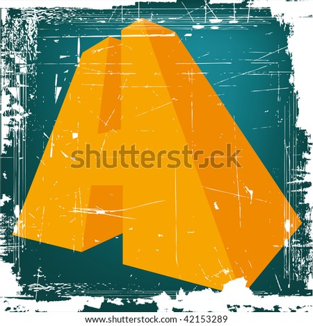 """3d letter """"H"""" on GRUNGE background - stock photo"""