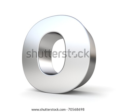 3d letter O from my metal letter collection - stock photo