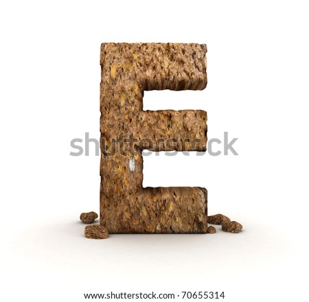 3D Letter of Stone Alphabet Isolated - stock photo