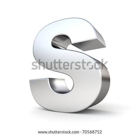 3d letter S from my metal letter collection - stock photo