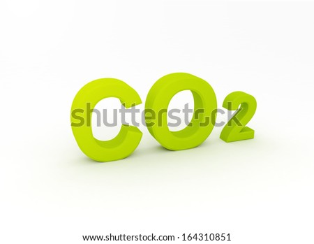 3d letters spelling the word CO2  - stock photo