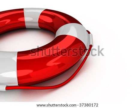 3d Lifebuoy isolated on white background
