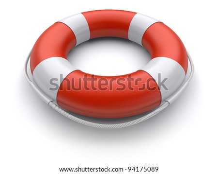 3d lifebuoy on a white background