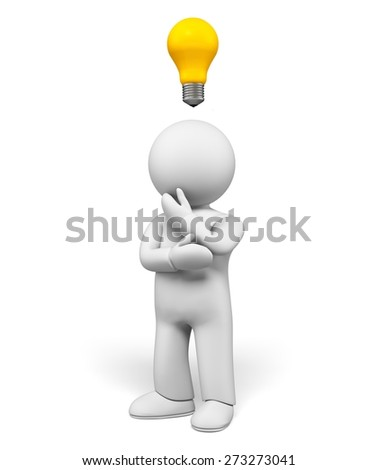 3D. Light Bulb, Ideas, Inspiration. - stock photo
