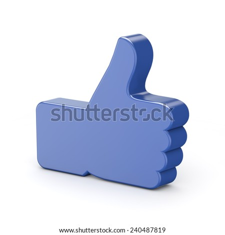 3d like symbol isolated white background with clipping path - stock photo