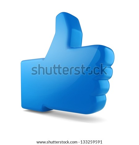 3d like symbol on white baclground - stock photo
