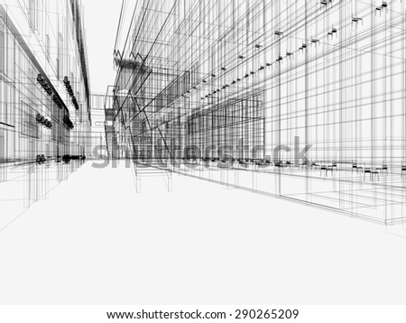Cad drawing stock photos royalty free images vectors for Linear architecture design