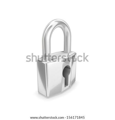 3d lock - stock photo