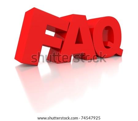3d logo FAQ - stock photo