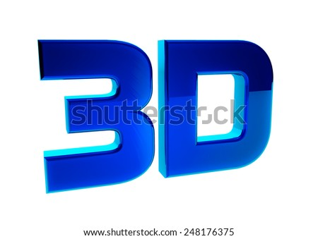 3D logo isolated on white background. 3d word