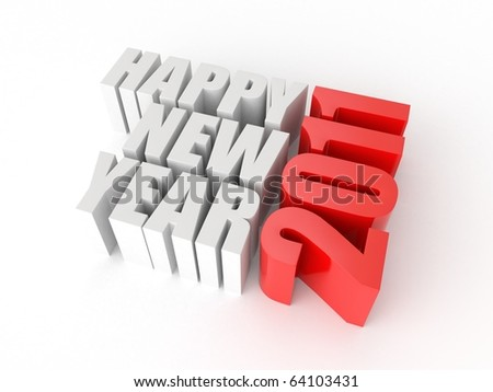 3d logo of new year isolated on white background - stock photo