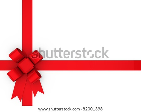 3d loop red gift ribbon christmas birthday