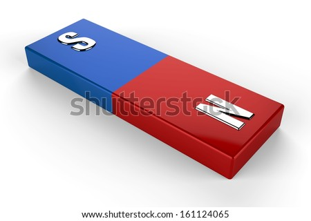 3d magnet - stock photo