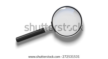 3D. Magnifying Glass, Glass, Searching. - stock photo
