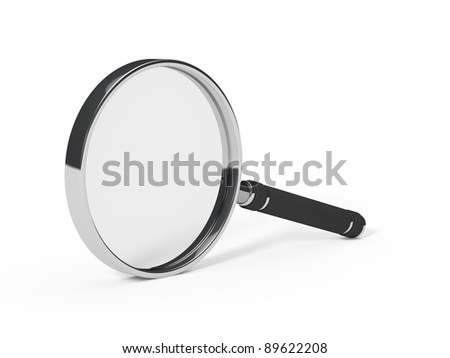 3d magnifying glass less chrome black handle