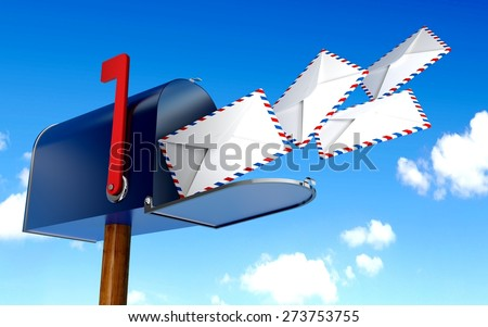 3D. Mailbox, Mailbox, Mail. - stock photo