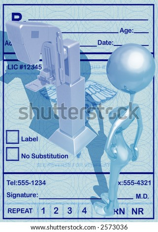 3D Mammography Concept - stock photo