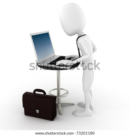 3d man business concept - stock photo