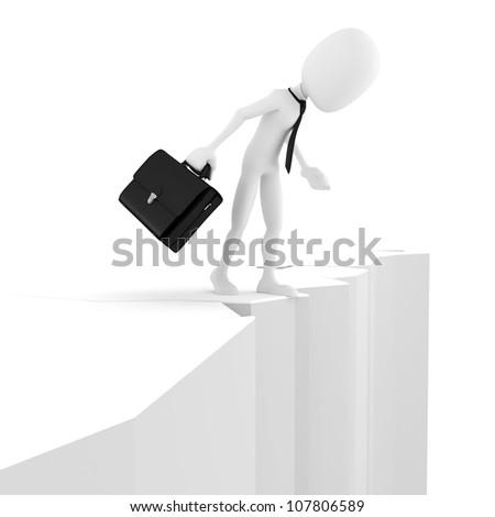 3d man, business motivation - stock photo