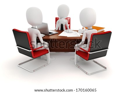 3d man businessman, business scene