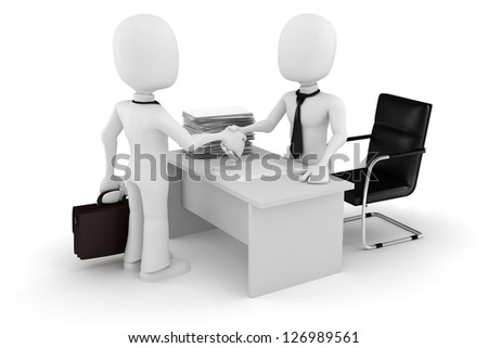 3d man businessman deal