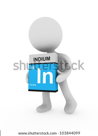3d man carry a indium box