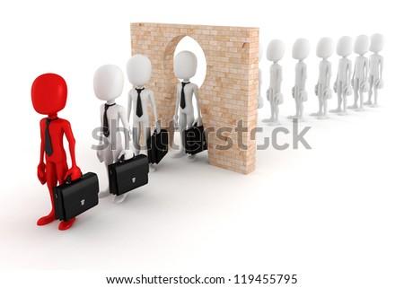 3d man regular person to business man transform concept - stock photo