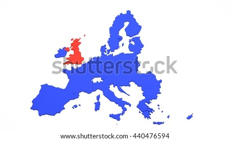 3 D Map Europe Just European Union Stock Illustration 440476594