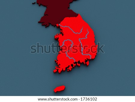 3D Map of Korea