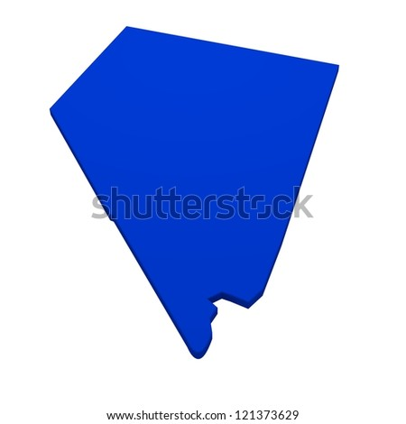 3d map of Nevada - stock photo