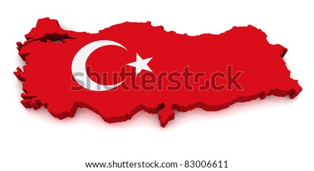 3D Map of Turkey
