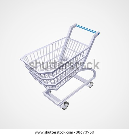 3-d Market cart - stock photo