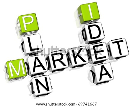 3D Market Plan Idea - stock photo